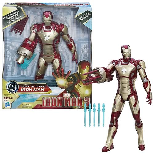 Iron Man 3 Sonic Blasting Iron Man Action Figure