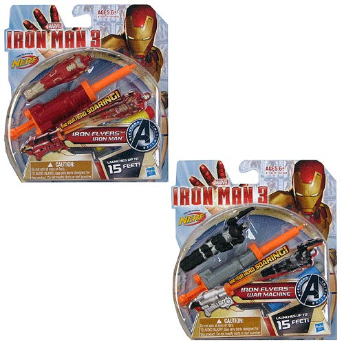 Iron Man 3 Iron Flyers Launching Action Figures Wave 1 Set
