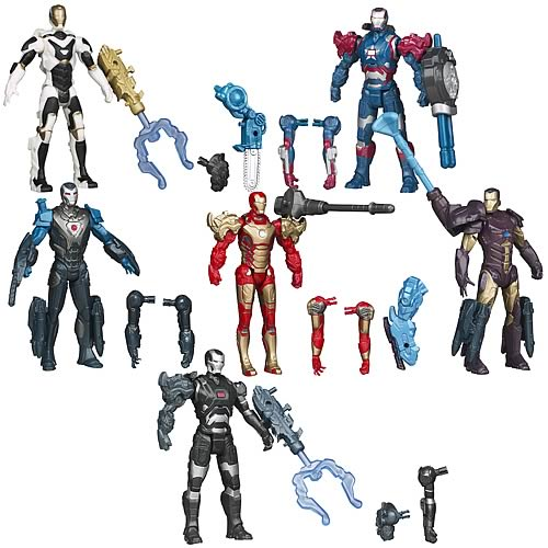 Iron Man Movie 3 Assemblers Action Figures Wave 1 Set