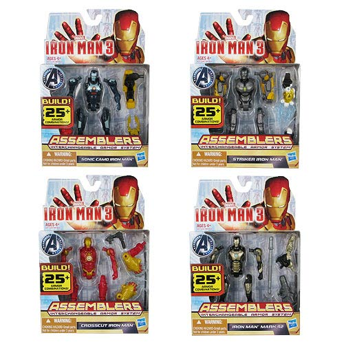 Iron Man Movie 3 Assemblers Action Figures Wave 2 Set