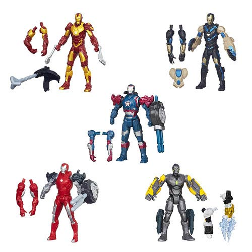 Iron Man 3 Toys ~ Iron man movie assemblers action figures wave hasbro