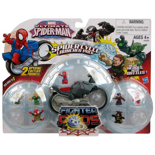 Spider-Man Spider Pods Fighter Pods Cycle Launcher Vehicle