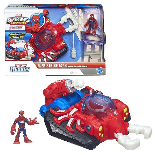 Marvel Super Hero Adventures Web Strike Tank Vehicle