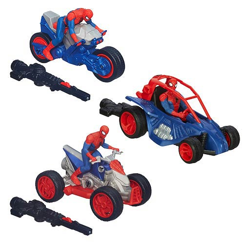 Ultimate Spider-Man Blast N Go Racer Vehicles Wave 2 Set