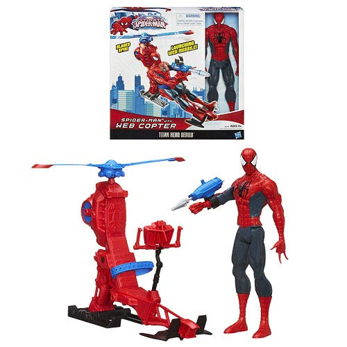 Ultimate Spider-Man Titan Hero Series Figure with Web Copter