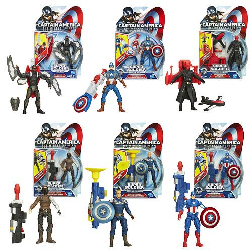Captain America 2 Super Soldier Gear Figures Wave 2R1 Set