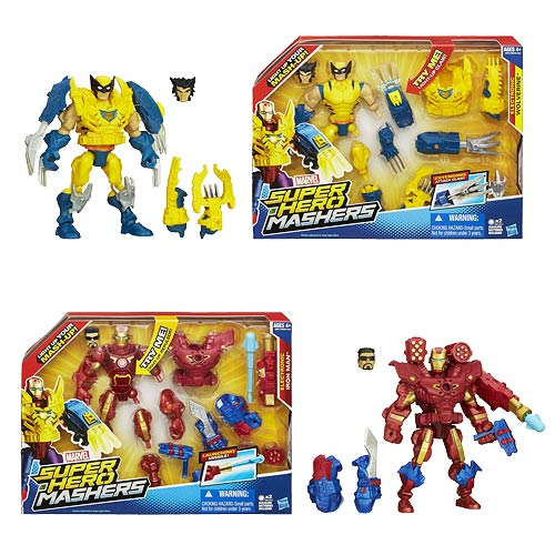 Marvel Super Hero Mashers Electronic Action Figures Set