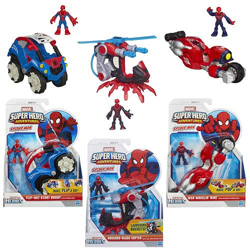 Marvel Super Hero Adventures Spider-Man Vehicles Wave 2