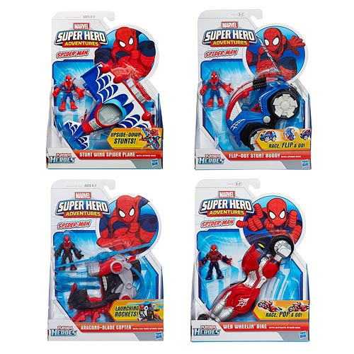 Marvel Super Hero Adventures Spider-Man Vehicles Wave 3