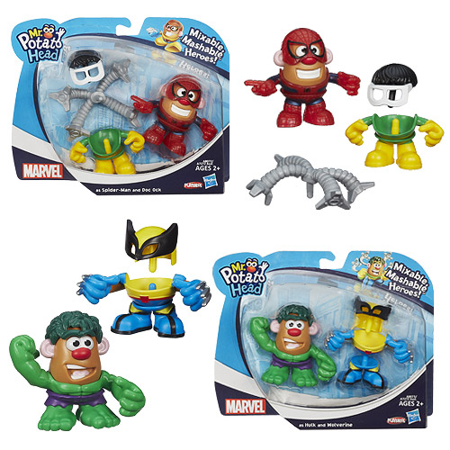 Marvel Mash Ups Mr. Potato Heads Wave 1 Set