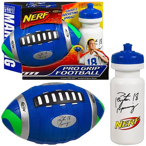 Nerf Peyton Manning Pro Grip Football with Water Bottle