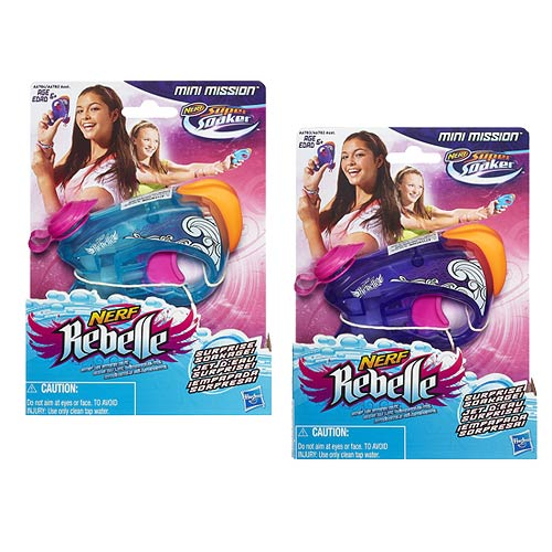 Nerf Rebelle Mini Mission Super Soaker (Color May Vary)
