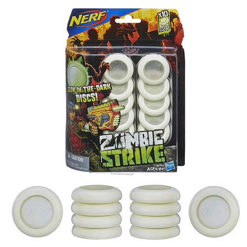 Nerf Zombie Strike 10-Disc Glow in the Dark Refill Set