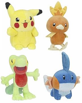 Pokemon Deluxe Plush Ast. 1
