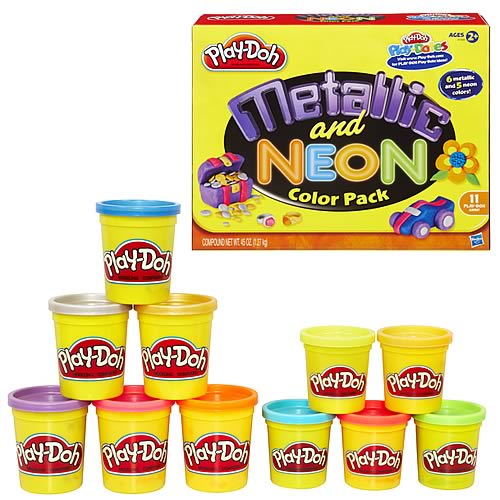 Play-Doh Metallic Neon Compound