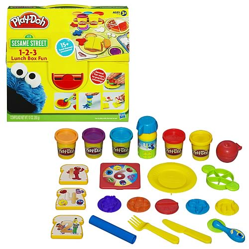 Play-Doh Sesame Street 1 2 3 Lunchbox Fun