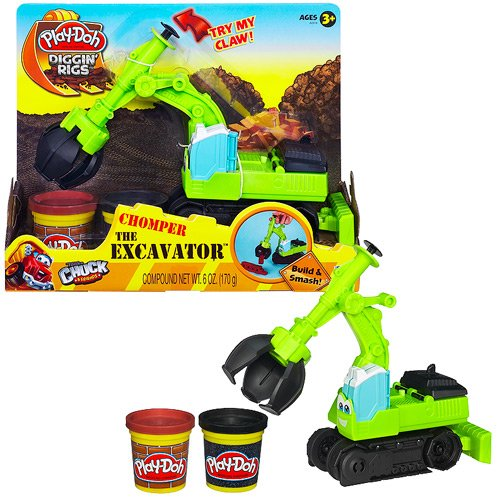 Play-Doh Diggin Rigs Chuck and Friends Chomper the Excavator