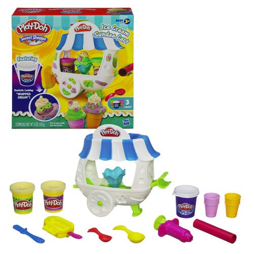Play-Doh Sweet Shoppe Ice Cream Sundae Cart Playset