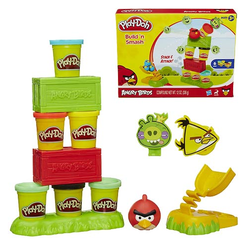 Play-Doh Angry Birds Build n Smash Set