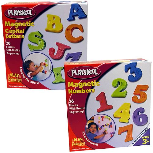 Playskool Magnetic Capital Letters & Numbers Set
