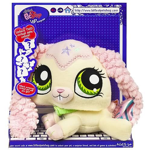 littlest pet shop vip surprise plush bunny   hasbro