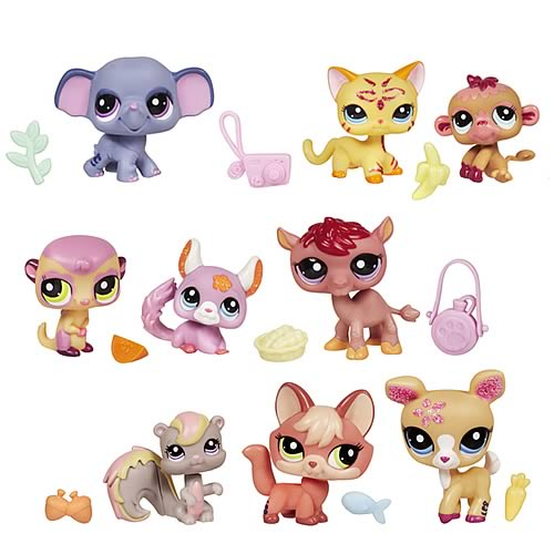 Littlest Pet Shop 3-Pack Pets Wave 1 Set