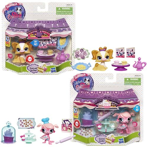 Littlest Pet Shop Push and Play Packs Wave 1 Set