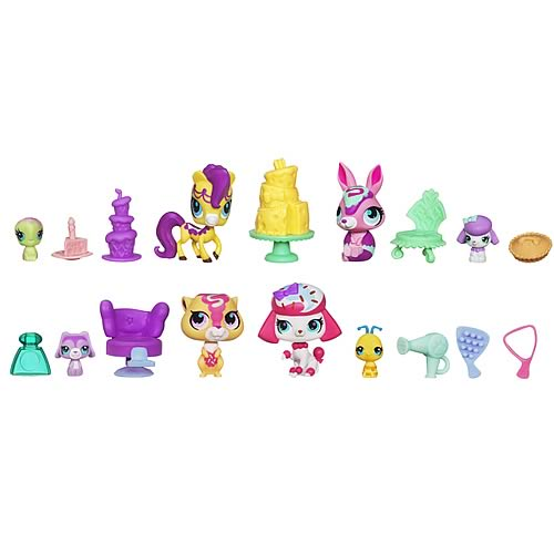 Littlest Pet Shop Multi Pet Scene Packs Wave 1 Set
