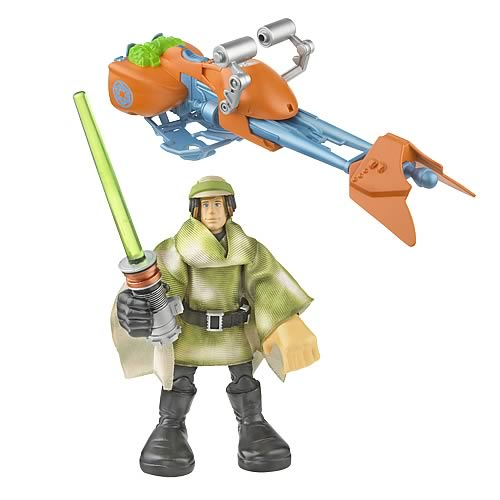 Star Wars Playskool Jedi Force Luke with Speeder Bike