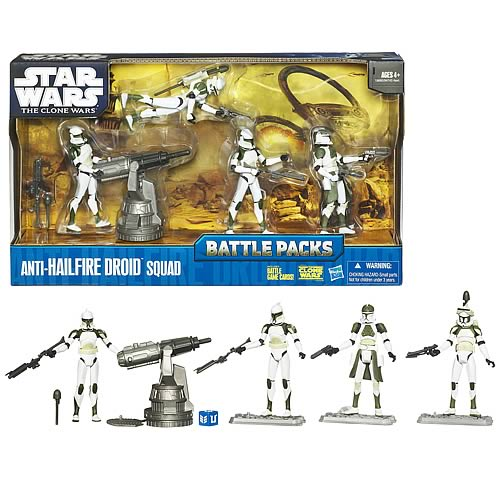 Star Wars Clone Wars Anti-Hailfire Droid Squad Battle Pack