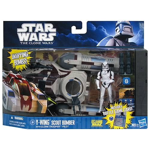 Star Wars Clone Wars Y-Wing Scout Bomber Vehicle