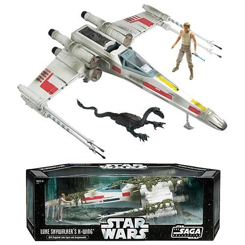 Star Wars X-Wing Fighter Vehicle with Luke Skywalker Figure
