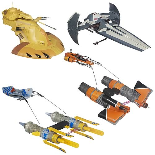 star wars and clone wars class ii vehicles wave 1 - hasbro - star