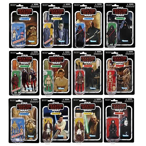 The Phantom Menace Toys : Star wars action figures vintage wave hasbro