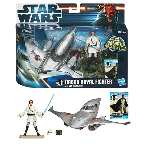 Star Wars Naboo Royal Fighter Vehicle with Obi-Wan Kenobi