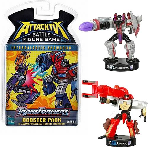 Transformers Attacktix Series 1 Booster Pack Set