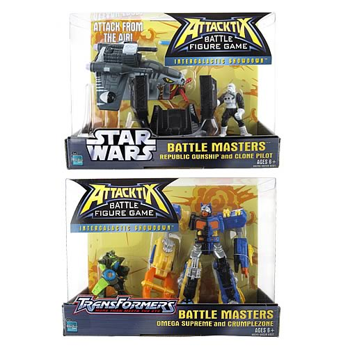 Star Wars vs. Transformers Attacktix Battle Masters 1 Set