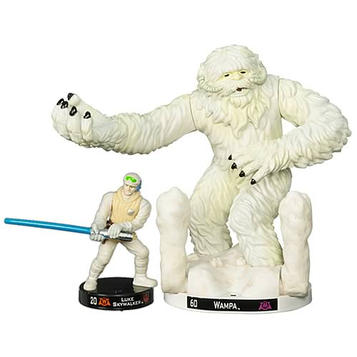 Star Wars Attacktix Wampa with Luke Skywalker