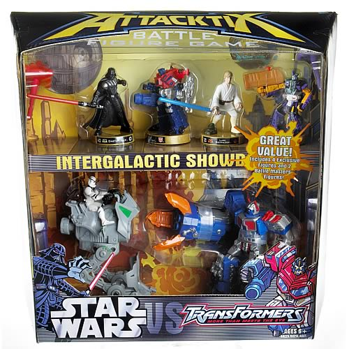 Star Wars vs. Transformers Attacktix Intergalactic Showdown
