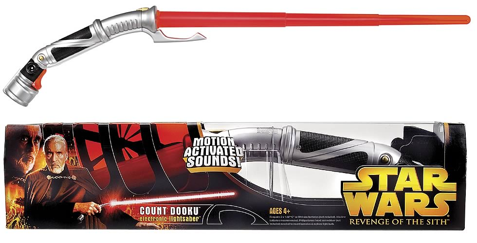 Star Wars Count Dooku Electronic Lightsaber