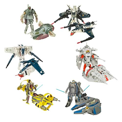 Star Wars Clone Wars Transformers Wave 1 Revision 1