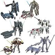 Star Wars Clone Wars Transformers Figures Wave 5 Revision 1
