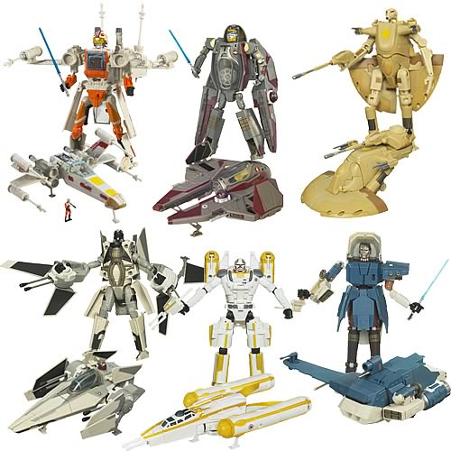 Star Wars Clone Wars Transformers Wave 7 - Hasbro - Star Wars ...