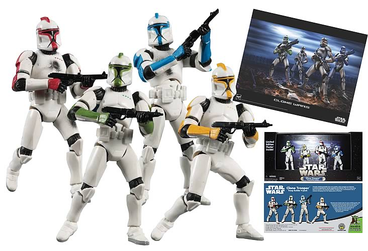 Exclusive Star Wars Clone Troopers (Colors, Battle Damaged)