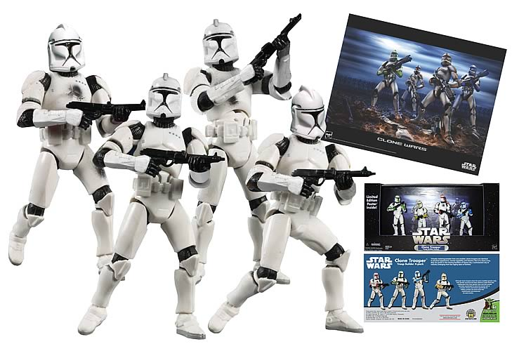 Exclusive Star Wars Clone Troopers (White, Battle Damaged)
