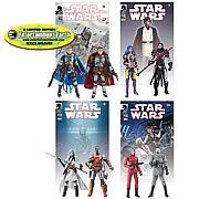 EE Exclusive Star Wars Action Figure Legacy Comic Packs Set