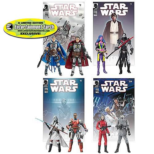 EE Exclusive Star Wars Figures Legacy Comic Packs Set