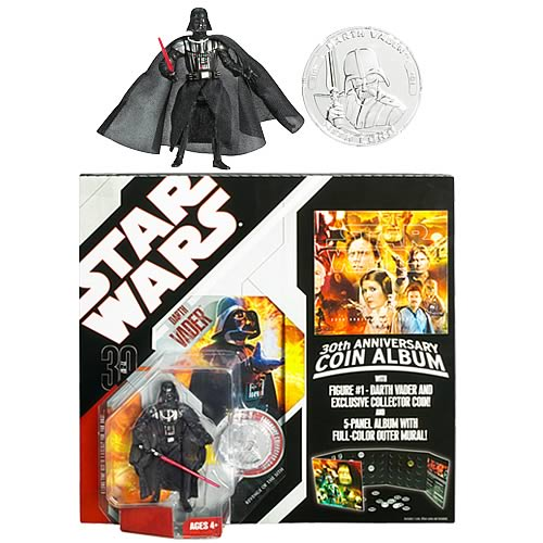 Star Wars Coin Album with Darth Vader Action Figure