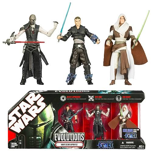 Star Wars Evolutions Vader's Apprentice Action Figures