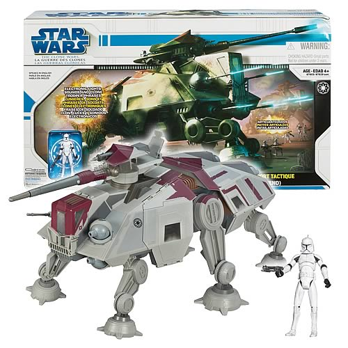 Star Wars The Clone Wars Toys : Star wars clone at te vehicle hasbro